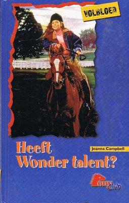 Volbloed - Heeft Wonder talent?
